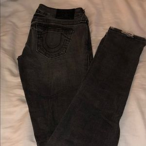 grey true religion jeans